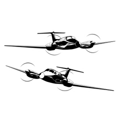 Civil utility aircraft vector image vector image
