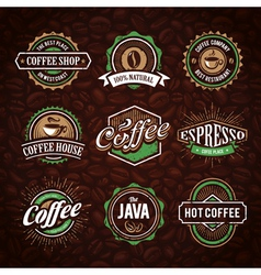 Coffee Shop Emblems 1 vector image
