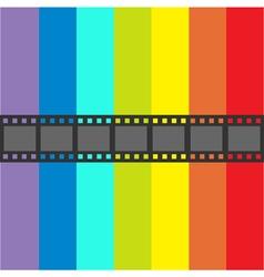 Film strip frame straight shape ribbon design vector