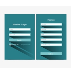 Forms Login vector image