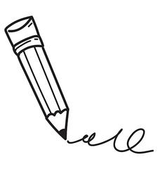 Pencil sketch vector image vector image