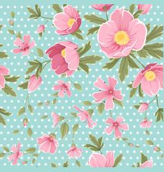 pink hellebore gypshophila floral seamless pattern vector image vector image