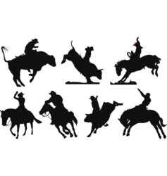 rodeo vector image vector image