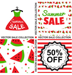 sale template collection vector image vector image