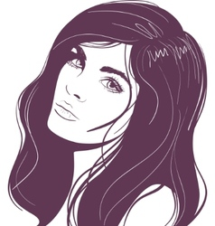 beauty face girl portrait vector image vector image