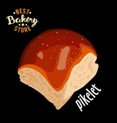 butter sweet bun for dinner baked bread vector image vector image