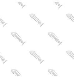 fish skeleton icon in cartoon style isolated on vector image