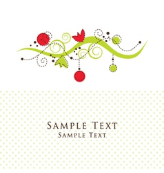 Floral Pattern Card vector image vector image