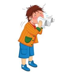 Kid Sneeze vector image