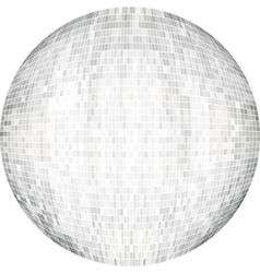 White Ball in mosaic vector image vector image