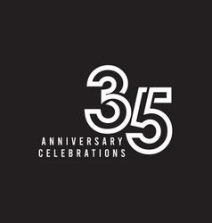 35 years anniversary celebration template design vector