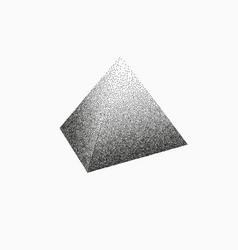 3d pyramid drawing in pointillism style vector