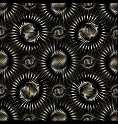 abstract radial 3d shapes seamless pattern modern vector image