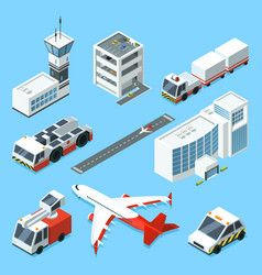Airline terminal aero tower airplane and vector