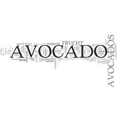 Avocado mehr als nur eine frucht text word cloud vector