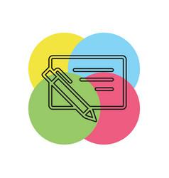 bank cheque icon vector image