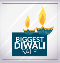Biggest diwali sale promotional banner template vector