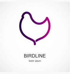 Bird symbol design vector