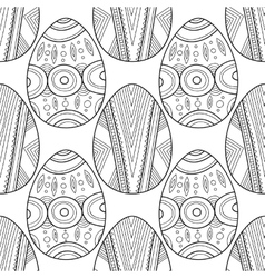 Black and white seamless pattern of decorative vector image