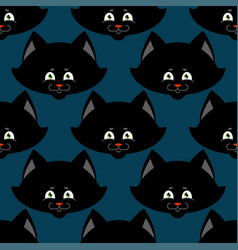 black cat seamless pattern pet ornament animal vector image