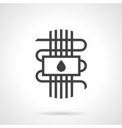 Black style icon water warm floor vector