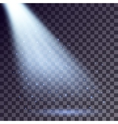 Blue rays from spotlight vector image