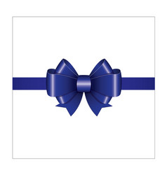 blue ribbon bow 01 vector image