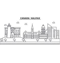 Canada halifax architecture line skyline vector