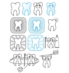 Cartoon Teeth symbol vector