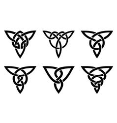 Celtic knot set vector