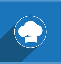Chef cap icon sign icon cap symbol flat vector