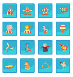 Circus icon blue app vector