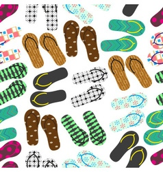 colorful variation of flip flops summer shoes vector image