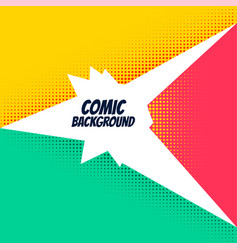 comic background with bright halftone effect vector image