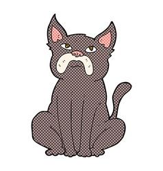 Comic cartoon grumpy little dog vector
