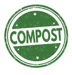 Compost sign or stamp vector