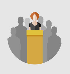concept of election debates vector image