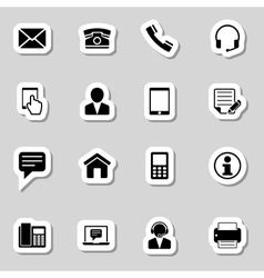 Contact Icons Set as Labes vector image