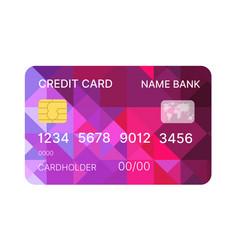 Credit card multicolor template vector