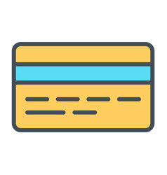 Credit card pixel perfect thin line icon 48x48 vector