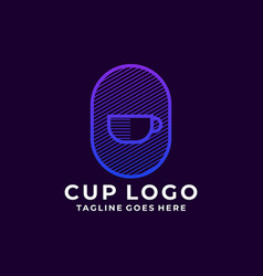 cup design template vector image