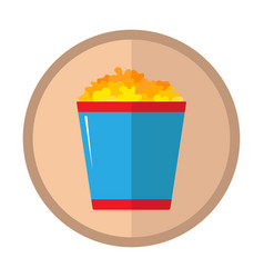 cute icon of the popcorn cinema vector image