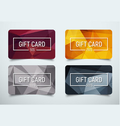 Design a gift card with a frame for text vector