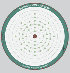 detailed infographic caesium vector image