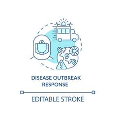 Disease outbreak response concept icon vector