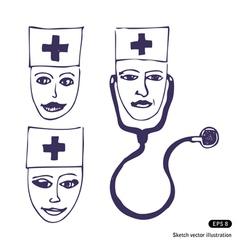 Doctors Three icon faces vector image