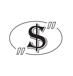 Dollar symbol bubble vector image