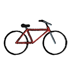 Drawing bicycle transport active sport vector