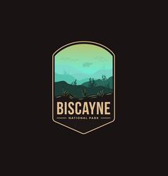 emblem patch logo biscayne national park vector image