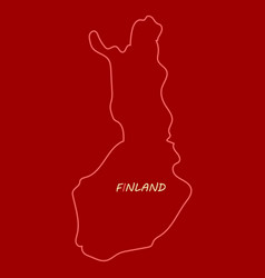 Finland map with shadow effect vector